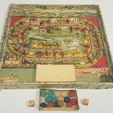 Juegos de mesa: S9- ANTIGUO JUEGO DE LA OCA Y PARCHIS AÑOS 40-50. Lote 167139220