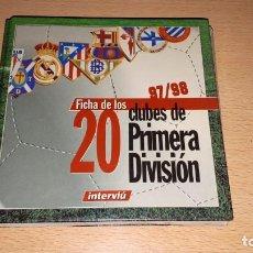 Juegos de mesa: FICHAS DE LOS 20 CLUB DE PRIMERA DIVISION 97-98 INTERVIU. Lote 167622988