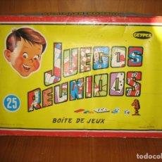 Juegos de mesa: ANTIGUOS JUEGOS REUNIDOS GEYPER 25. INCOMPLETO. Lote 167715712