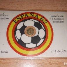 Juegos de mesa: CARNET FUTBOL ESPAÑA 82 CON MONEDA 100 PTS. Lote 168098272