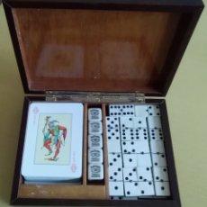 Juegos de mesa: ESTUCHE DE JUEGOS, NAIPES.DADOS Y DOMINÓ. Lote 168299045