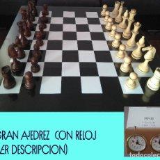 Juegos de mesa: ?? GRAN AJEDREZ (REY 15 CM) CON RELOJ ??. Lote 139912870