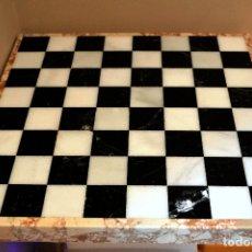 Juegos de mesa: GRAN AJEDREZ TABLERO LOSA EN PIEDRA MARMOL. Lote 168571952
