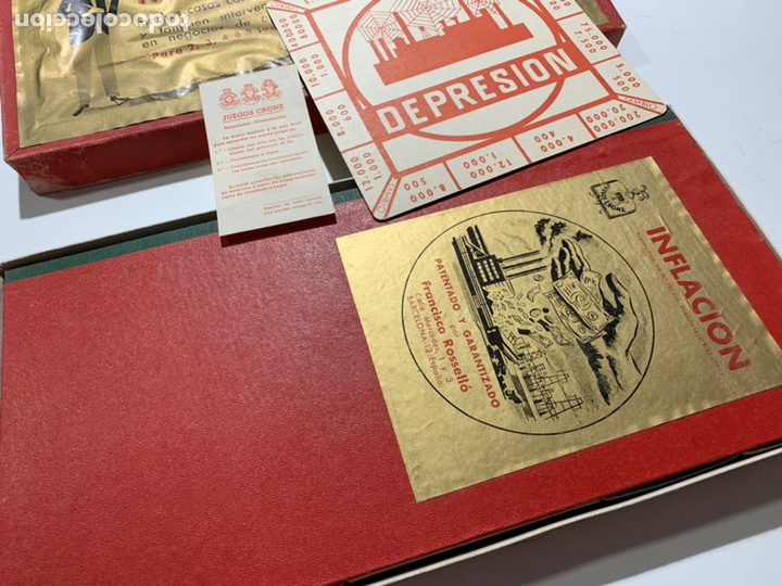Juegos de mesa: Juego de mesa inflación de 1964 de juegos Crone Francisco Rosselló - Foto 2 - 169067612