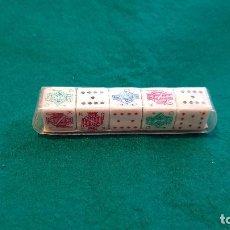 Juegos de mesa: DADOS DE POKER. Lote 169657772