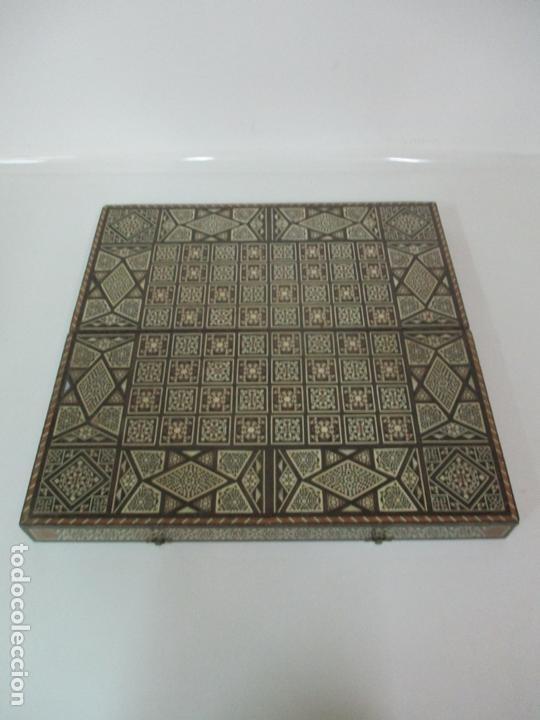 Juegos de mesa: Caja de Madera, Diferentes Maderas y Hueso - Tablero - Juego de Ajedrez, Damas, Backgamon - Foto 2 - 170153480