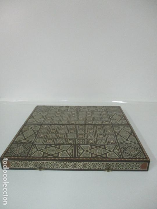 Juegos de mesa: Caja de Madera, Diferentes Maderas y Hueso - Tablero - Juego de Ajedrez, Damas, Backgamon - Foto 3 - 170153480