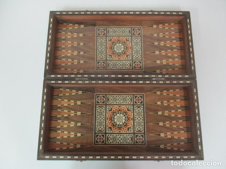 Juegos de mesa: Caja de Madera, Diferentes Maderas y Hueso - Tablero - Juego de Ajedrez, Damas, Backgamon - Foto 4 - 170153480