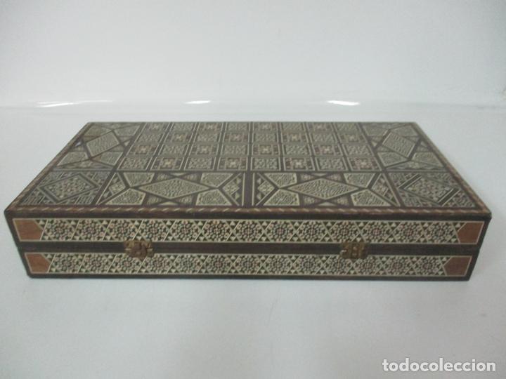 Juegos de mesa: Caja de Madera, Diferentes Maderas y Hueso - Tablero - Juego de Ajedrez, Damas, Backgamon - Foto 5 - 170153480