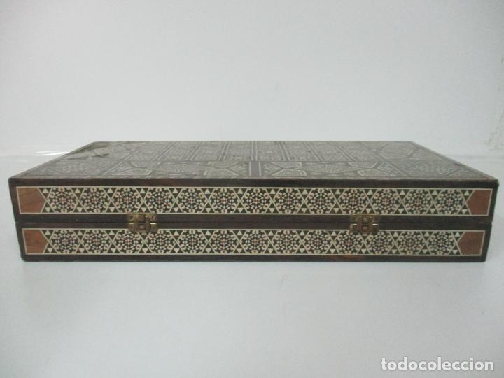 Juegos de mesa: Caja de Madera, Diferentes Maderas y Hueso - Tablero - Juego de Ajedrez, Damas, Backgamon - Foto 6 - 170153480