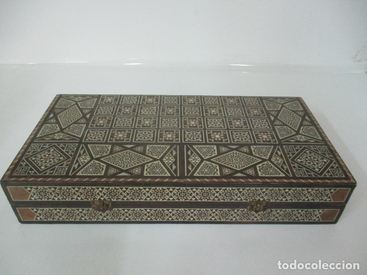 Juegos de mesa: Caja de Madera, Diferentes Maderas y Hueso - Tablero - Juego de Ajedrez, Damas, Backgamon - Foto 7 - 170153480