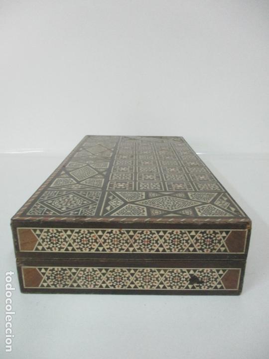 Juegos de mesa: Caja de Madera, Diferentes Maderas y Hueso - Tablero - Juego de Ajedrez, Damas, Backgamon - Foto 9 - 170153480