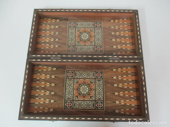 Juegos de mesa: Caja de Madera, Diferentes Maderas y Hueso - Tablero - Juego de Ajedrez, Damas, Backgamon - Foto 10 - 170153480