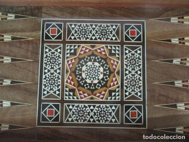 Juegos de mesa: Caja de Madera, Diferentes Maderas y Hueso - Tablero - Juego de Ajedrez, Damas, Backgamon - Foto 11 - 170153480