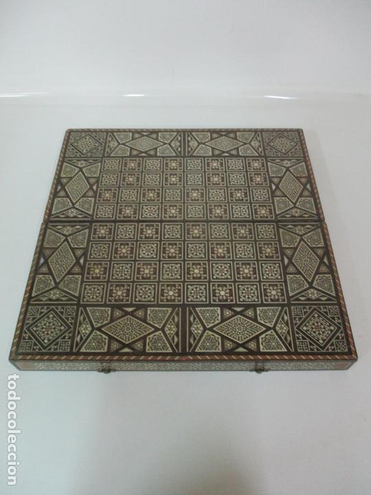 Juegos de mesa: Caja de Madera, Diferentes Maderas y Hueso - Tablero - Juego de Ajedrez, Damas, Backgamon - Foto 12 - 170153480