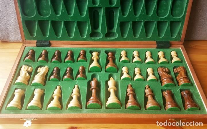 Juegos de mesa: Ajedrez Staunton Clásico con Tablero / Caja plegable de Madera - Foto 2 - 170251078