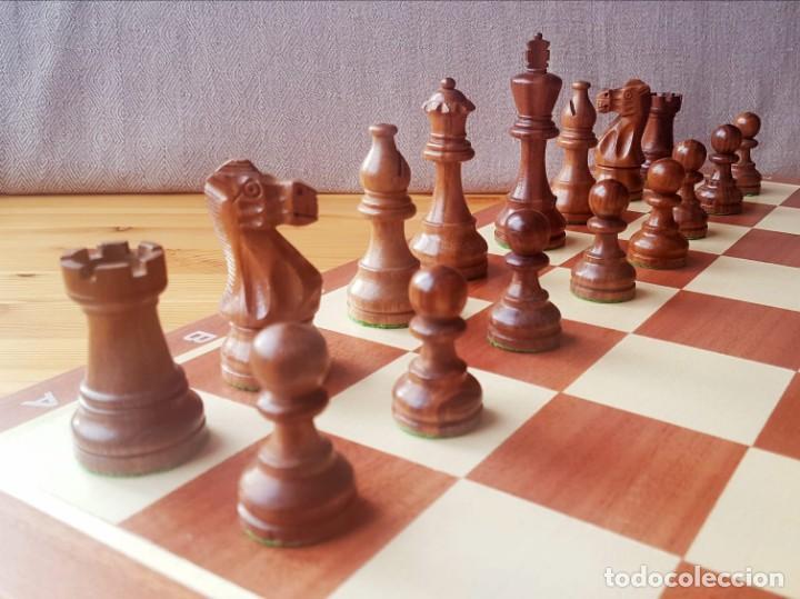 Juegos de mesa: Ajedrez Staunton Clásico con Tablero / Caja plegable de Madera - Foto 5 - 170251078