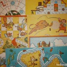 Juegos de mesa: LOTE JUEGOS DE MESA SALTAMONTES SAFARI CONSTRUCCIONES ESCALERA PORTAAVIONES KARPA PLAYA ISLA TREBOL. Lote 170430776