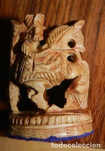Juegos de mesa: Antiguo Juego de Ajedrez Indio tallado a mano, llevalas 32 piezas talladas a mano en madera, todo ta - Foto 27 - 170977843