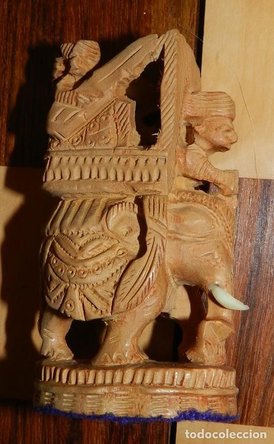 Juegos de mesa: Antiguo Juego de Ajedrez Indio tallado a mano, llevalas 32 piezas talladas a mano en madera, todo ta - Foto 30 - 170977843