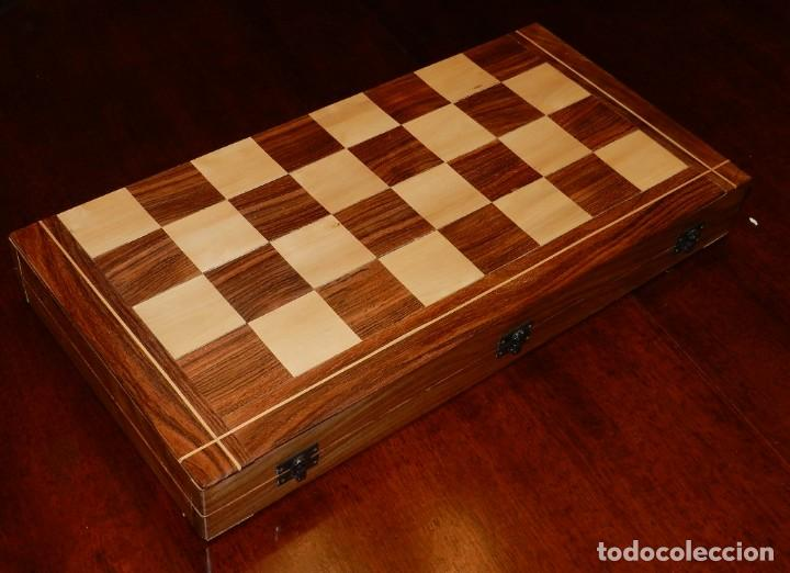 Juegos de mesa: Antiguo Juego de Ajedrez Indio tallado a mano, llevalas 32 piezas talladas a mano en madera, todo ta - Foto 42 - 170977843
