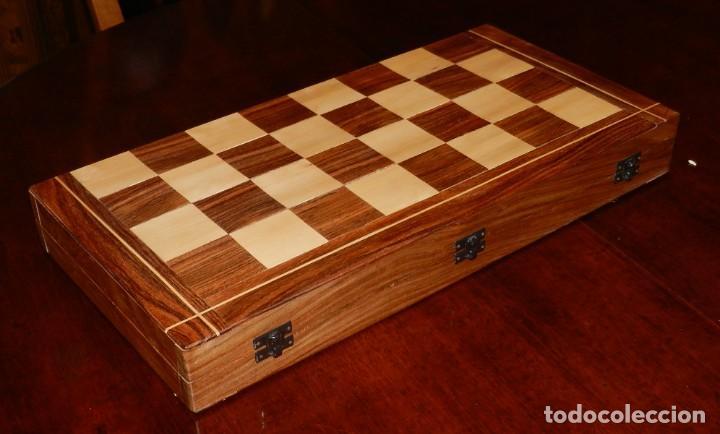 Juegos de mesa: Antiguo Juego de Ajedrez Indio tallado a mano, llevalas 32 piezas talladas a mano en madera, todo ta - Foto 43 - 170977843