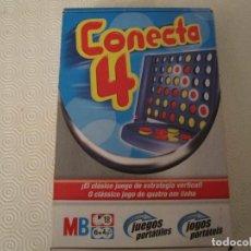 Juegos de mesa: CONECTA 4 JUEGO PORTÁTIL MB + 6 AÑOS CUATRO EN RAYA. Lote 171068402