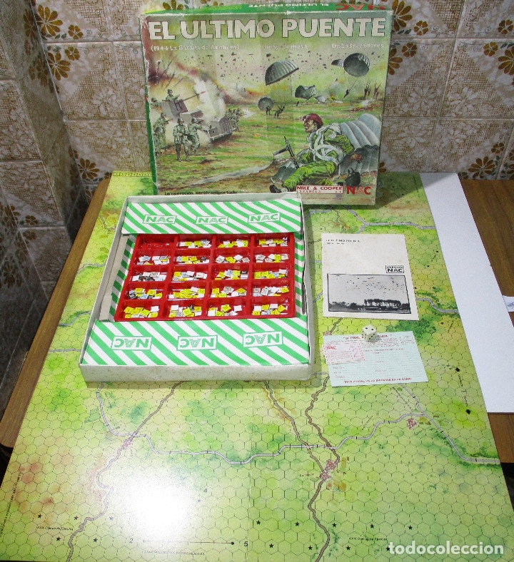 JUEGO DE MESA EL ÚLTIMO PUENTE, 1944 LA BATALLA DE ARNHEM), WARGAME, ESTRATEGIA NAC 1984 (Juguetes - Juegos - Juegos de Mesa)