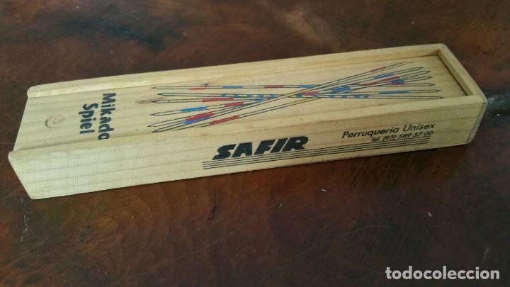 Juegos de mesa: Juego Mikado spiel - palillos chinos - en caja de madera - años 80 publi SAFIR - Foto 2 - 171352297