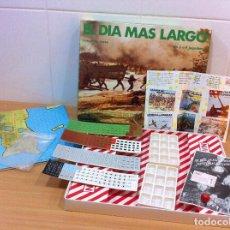 Juegos de mesa: JUEGO DE MESA SERIE WARGAME - EL DÍA MÁS LARGO (1982), DE NAC. TROQUELADO. Lote 172055125