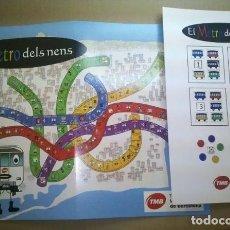 Juegos de mesa: METRO DE BARCELONA - CURIOSO JUEGO DE MESA - FERROCARRIL - TREN -VER INTERIOR. Lote 172093299