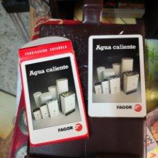Juegos de mesa: CARTAS HERACLIO FOURNIER VITORIA PUBLICIDAD FAGOR EN SU PLASTICO CON ESTUCHE CARTERA PLASTICO . Lote 172347427