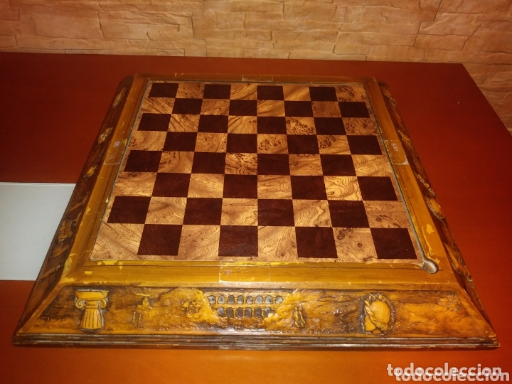 Juegos de mesa: Tablero ajedrez madera - Foto 6 - 172372133