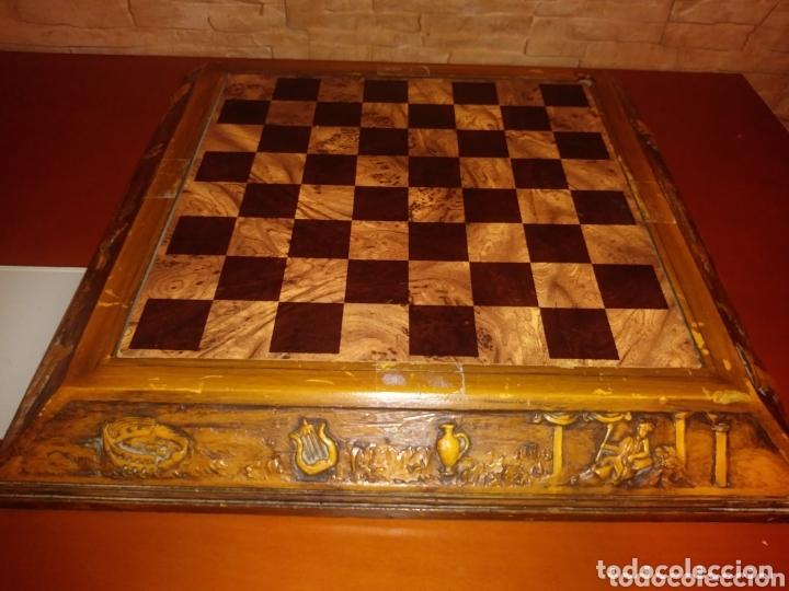 TABLERO AJEDREZ MADERA (Juguetes - Juegos - Juegos de Mesa)