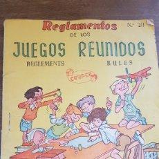 Juegos de mesa: REGLAMENTO JUEGOS REUNIDOS GEYPER N.20. Lote 172468989