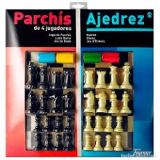 Juegos de mesa: PARCHÍS Y AJEDREZ HERACLIO FOURNIER ¡COMPLETAMENTE NUEVO!. Lote 172611324