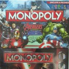 Juegos de mesa: MONOPOLY STAR WARS DISNEY + MONOPOLY AVENGERS MARVEL. Lote 172653973