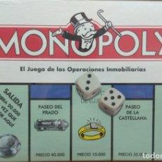 Juegos de mesa: LOTE DOS MONOPOLY MADRID UNO EN PESETAS + MONOPOLY MADRID EN €. Lote 172717253