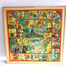 Juegos de mesa: ANTIGUO TABLERO OCA PARCHÍS AÑOS 60 70 CARICATURAS DE KUBALA Y DI STÉFANO . Lote 172759628