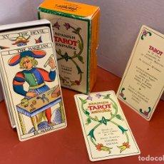 Juegos de mesa: ANTIGUA BARAJA DE TAROT BILINGUE NAIPES FOURNIER. LAS CARTAS MIDEN 11X6CMS. Lote 173406353