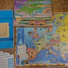 Juegos de mesa: JUEGO DE MESA VIAJE POR EUROPA DE EDUCA - COMPLETO . Lote 173418512