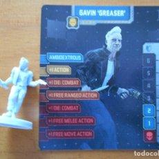 Juegos de mesa: ZOMBICIDE INVADER - GAVIN GREASER - KICKSTARTER EXCLUSIVE - FIGURA + TARJETA - NUEVO (S1). Lote 294995993