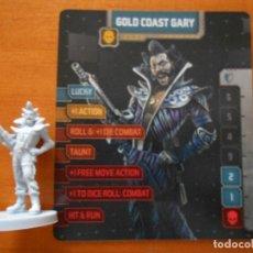 Juegos de mesa: ZOMBICIDE INVADER - GOLD COAST GARY - KICKSTARTER EXCLUSIVE - FIGURA + TARJETA - NUEVO (S1). Lote 294997648