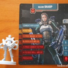 Juegos de mesa: ZOMBICIDE INVADER - MAJOR SHARP - KICKSTARTER EXCLUSIVE - FIGURA + TARJETA - NUEVO (S1). Lote 294997803
