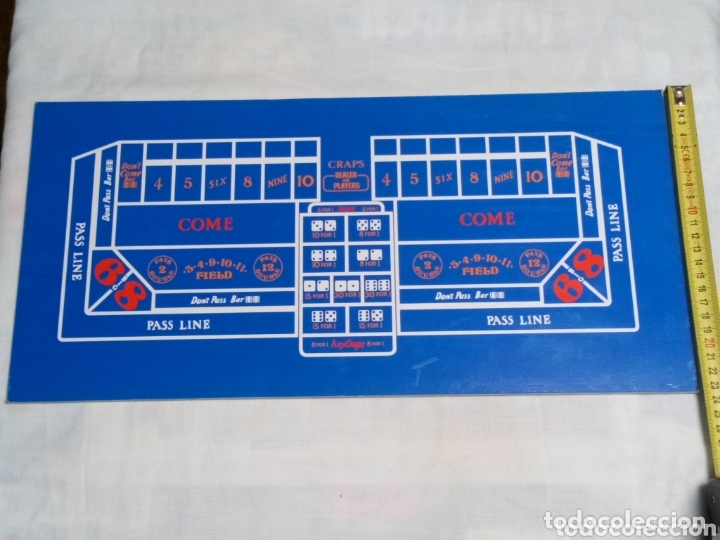 TABLERO DE CRAPS Y BLACK JACK (Juguetes - Juegos - Juegos de Mesa)