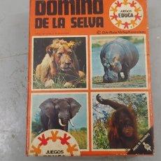 Juegos de mesa: DOMINO DE LA SELVA EDUCA INCLUYE CATÁLOGO DE JUEGOS EDUCA VER FOTOS (CAJA1). Lote 174031890