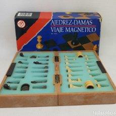 Juegos de mesa: AJEDREZ-DAMAS - MAGNETICO - DE VIAJE - CAR157. Lote 174044299