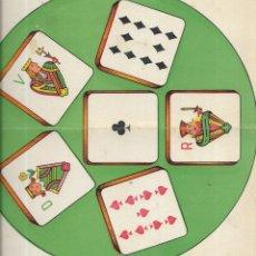 Juegos de mesa: == RR162 - ANTIGUA CARTULINA DE JUEGOS REUNIDOS. Lote 174184854