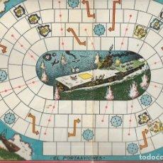 Juegos de mesa: *** K233 - ANTIGUA CARTULINA DE JUEGOS REUNIDOS - EL PORTAAVIONES. Lote 174186020