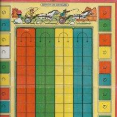 Juegos de mesa: *** K240 - ANTIGUA CARTULINA DE JUEGOS REUNIDOS - JUEGO DE LAS QUINIELAS. Lote 174188810